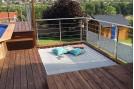 filet suspendu pour terrasse extérieure
