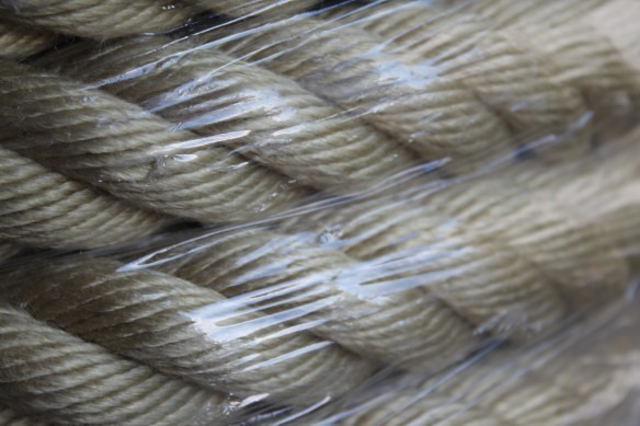 Rampe d'escalier en cordage classique