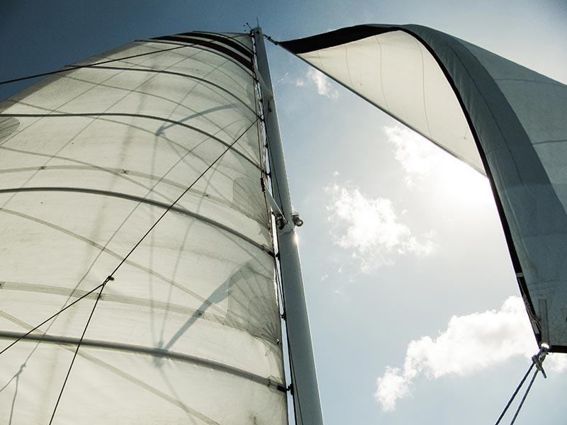 drisses sur un voilier