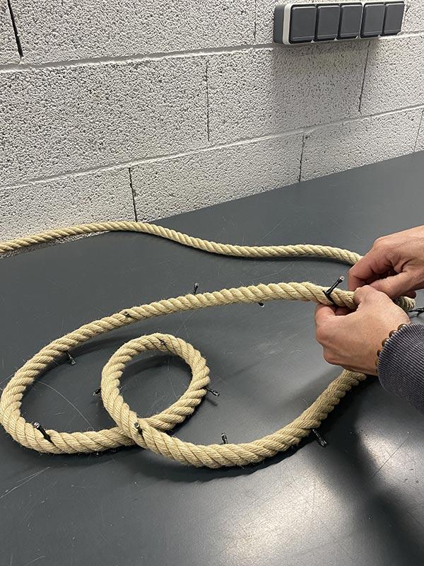 fabriquer une guirlande en corde