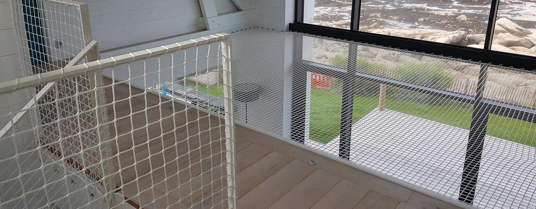 filet d'habitation, garde-corps et mezzanine