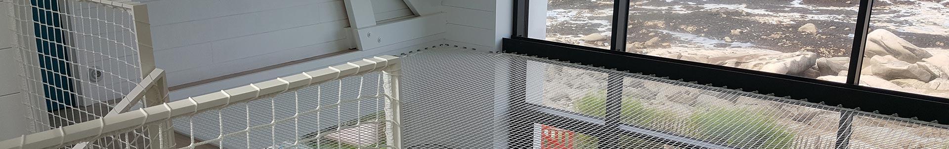 Filet d'habitation, filet mezzanine pour interieur et exterieur